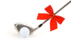 Esfera e excitador de golfe Foto de Stock