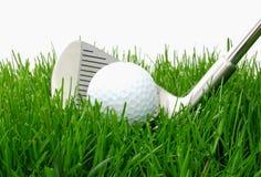 Esfera e ferro de golfe Foto de Stock Royalty Free
