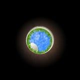 Esfera e furo de golfe Imagem de Stock Royalty Free