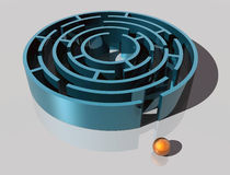 Esfera e labirinto imagem de stock royalty free