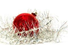 Esfera e ouropel do Natal Fotografia de Stock Royalty Free