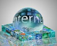 Esfera e plataforma Imagens de Stock Royalty Free