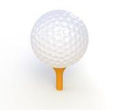 Esfera e T de golfe Fotos de Stock Royalty Free