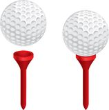 Esfera e T de golfe Fotografia de Stock