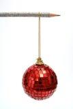 A esfera e um lápis de ano novo Imagens de Stock Royalty Free
