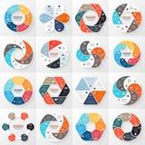 Esfera económica infographic, diagrama con opciones Fotografía de archivo libre de regalías