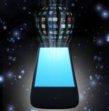 Esfera elegante del vídeo del teléfono Fotos de archivo