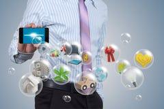 A esfera em handheld. imagens de stock royalty free
