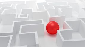 Esfera em um labirinto abstrato Foto de Stock
