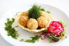 Esfera fritada do camarão Foto de Stock Royalty Free