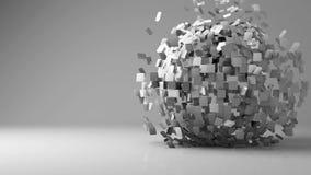 Esfera geométrica animada 3d almacen de video