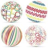 Esfera geométrica retra creativa Logo Template Imágenes de archivo libres de regalías