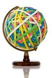 Esfera gigante da faixa de borracha no carrinho de madeira Fotografia de Stock Royalty Free