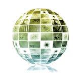 Esfera global do mundo da tecnologia dos media Fotos de Stock