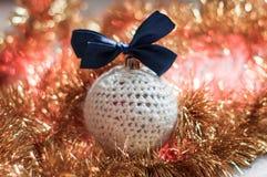Esfera Handmade do Natal Foto de Stock