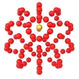 Esfera hecha de las esferas 3d Imagen de archivo libre de regalías