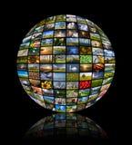 Esfera hecha de noventa y dos fotos de la naturaleza foto de archivo libre de regalías
