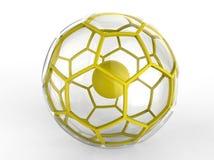 Esfera hexagonal amarilla stock de ilustración