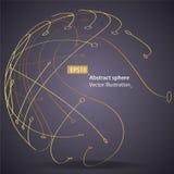 Esfera linear y del punto, concepto de la tecnología libre illustration