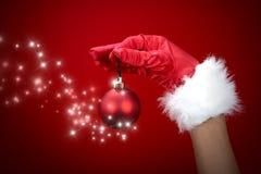 Esfera mágica do Natal Fotografia de Stock Royalty Free