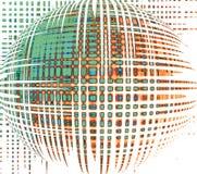 Esfera mágica Fundo futurista ilustração stock