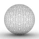 Esfera metálica no fundo branco Fotos de Stock