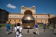 Esfera moderna da instalação no Vaticano Foto de Stock Royalty Free