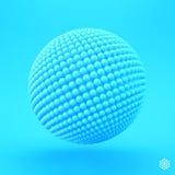 esfera molde do vetor 3d Ilustração abstrata Imagens de Stock Royalty Free