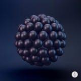 esfera molde do vetor 3d Ilustração abstrata Imagens de Stock