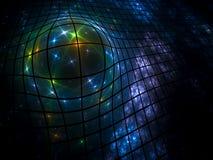 Esfera na rede Imagens de Stock