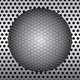 Esfera no fundo do metal Fotos de Stock Royalty Free