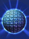 Esfera numerada tecnología Imagenes de archivo