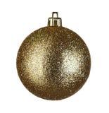 Esfera o do Natal Foto de Stock