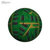 Esfera oca abstrata, microplaqueta, microcircuito, chip de silicone, microchip Fotografia de Stock Royalty Free