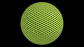 Esfera perfurada verde Imagem de Stock