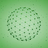 Esfera poligonal abstracta Imágenes de archivo libres de regalías