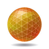 Esfera poligonal abstracta Fotos de archivo libres de regalías