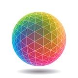 Esfera poligonal abstracta Fotos de archivo