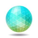 Esfera poligonal abstracta Fotografía de archivo libre de regalías
