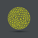 Esfera poligonal abstracta libre illustration