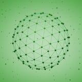 Esfera poligonal abstrata Imagens de Stock Royalty Free