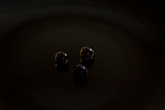 Esfera preta Fotografia de Stock