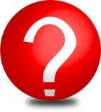 Esfera roja 3d del aqua del botón de la ayuda Imágenes de archivo libres de regalías