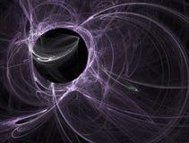 Esfera roxa do plasma Fotografia de Stock Royalty Free