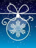 Esfera Sparkling do Natal Fotografia de Stock