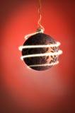 Esfera Sparkling do Natal imagem de stock