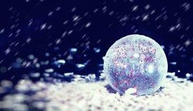 Esfera transparente do Natal imagem de stock