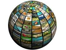 Esfera TV Foto de archivo libre de regalías