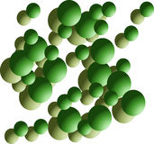 Esfera verde Fotografia de Stock Royalty Free