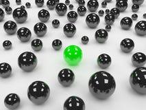Esfera verde diferente Imagem de Stock Royalty Free